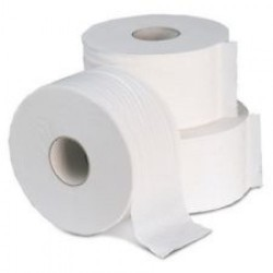 56317 - Dual Toilet Rolls 2Ply White 42mm Core 1x24 125m
