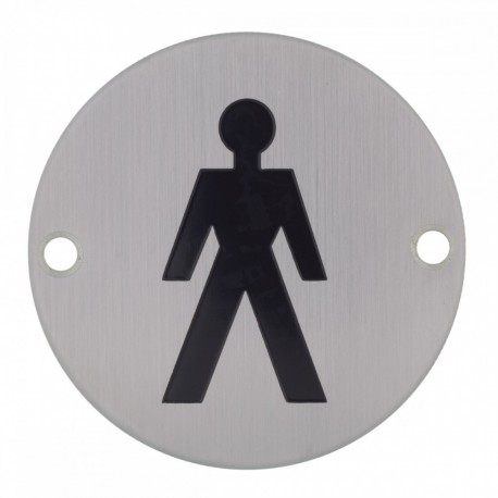 BC5463-01 Dolphin Stainless Steel Men's Toilet Sign