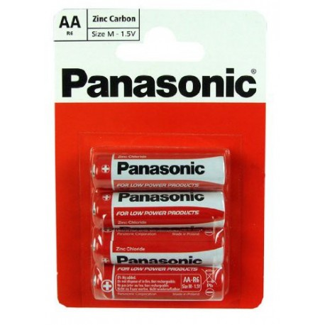 AA Panasonic Zinc Carbon Battery (1x4)