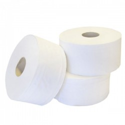 "56340 - Mini Jumbo Toilet Roll 2Ply White 3"" Core 1x12 150m"