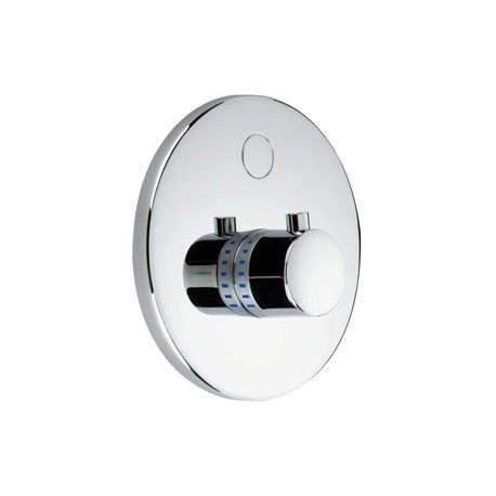DB1225T Dolphin Blue Electronic Semi Recessed Piezo Touch Thermostatic Shower Controls