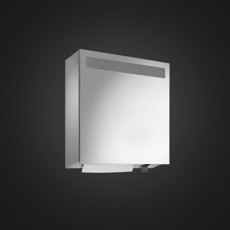 DP4109 Dolphin Prestige Mirror Fronted Cabinet with Integral Soap and Paper Dispenser