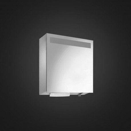 DP4113 Dolphin Prestige Mirror Fronted Cabinet with Integral Soap and Paper Dispenser