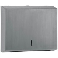 304 grade Brushed Stainless Steel half hand towel dispenser