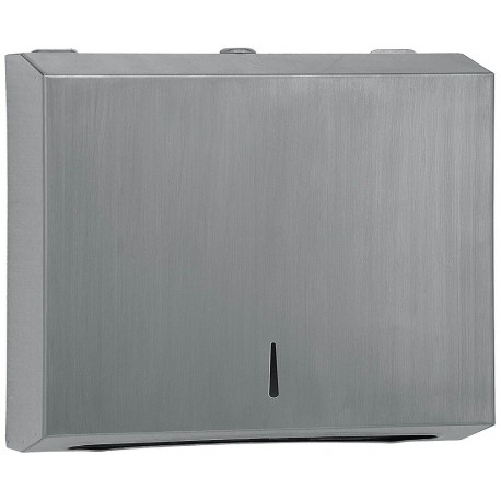 304 grade Brushed Stainless Steel half hand towel dispenser