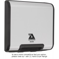 Airdri Quad Hand Dryer White Steel