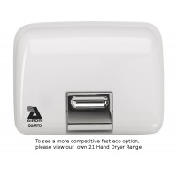 Airdri Quarto Hand Dryer White Enamelled Cast Iron
