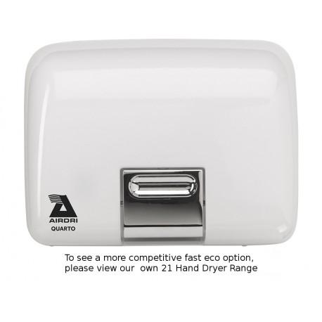 Airdri Quarto Hand Dryer White Enamelled Cast Iron
