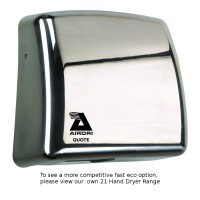 Airdri Quote Hand Dryer Polished Stainless Steel