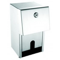 304 Grade Brushed Stainless Steel Duel Toilet Roll Dispenser