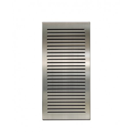 Louvre panel with provision for chiller – recessed