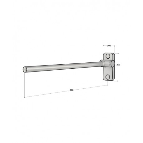 800mm Soft Fall Grab Bar - with stay