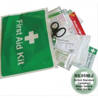 Car & Taxi First Aid Kit in Vinyl Wallet