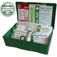 Car and Taxi First Aid Kit in Square Green Case