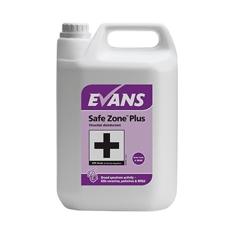 Evans Vanodine Safe Zone Plus Virucidal Cleaner Disinfectant