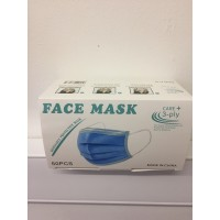 Blue Disposable Protective 3ply Face Mask (box of 50)
