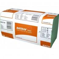 362101 - Katrin Basic Zig Zag Green Hand Towels