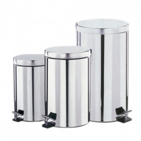 Dolphin BC110 Polished Stainless Steel Pedal Bin