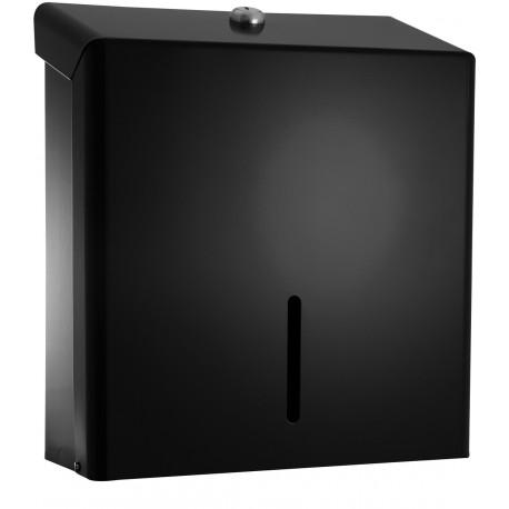 C21 Hygiene BMD04 C Fold Hand Towel Metal Dispenser Black