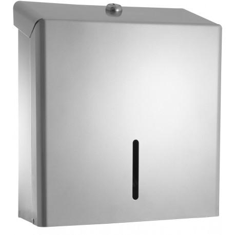 C21 Hygiene SCD04 C Fold Hand Towel Metal Dispenser Silver